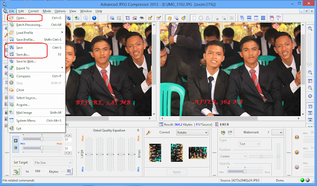 Kompres Gambar dengan Advanced JPEG Compressor