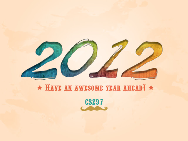 2012 happy new year typography csz97