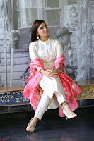 Mannara Chopra in Silky White Salwar Suit with Pink Chunni Latest Exclusive Pics March 2017 ~  017.JPG