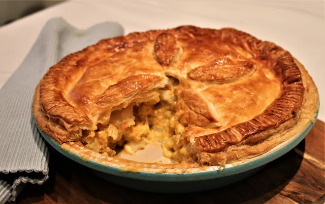 Three Cheese, Caramelised Onion & Potato Pie