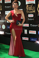 Natasha Nebasha in a Leg Slit Sleeveless Stunning Red Gown at IIFA Utsavam Awards 2017 082.JPG
