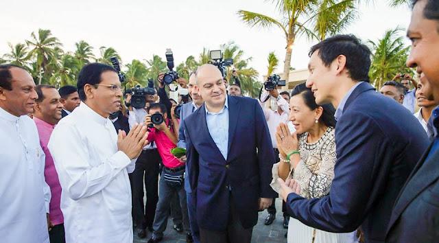 President declares open Shangri-La's Hambantota Resort.