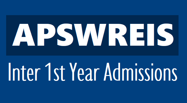 apswreis inter 1st year entrance admission test 2019,ap social welfare admissions test 2019,apswreis online application results hall tickets,exam date,last date