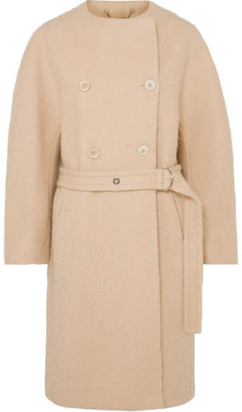 Chloé - Belted Wool-blend Grain De Poudre Coat – Beige