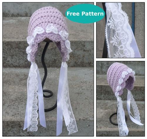 Vintage-Inspired Bonnet - Free Pattern