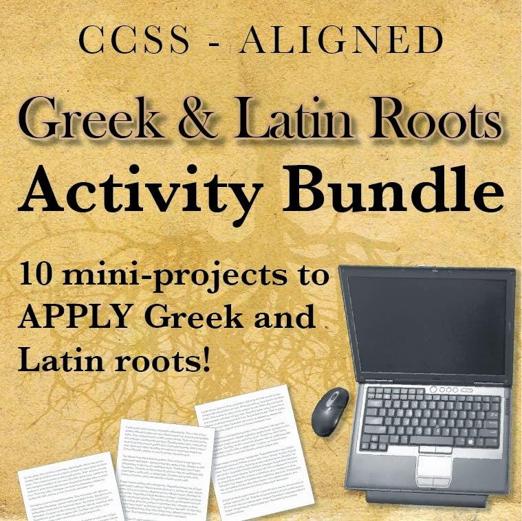 Greek & Latin Roots Activity Bundle