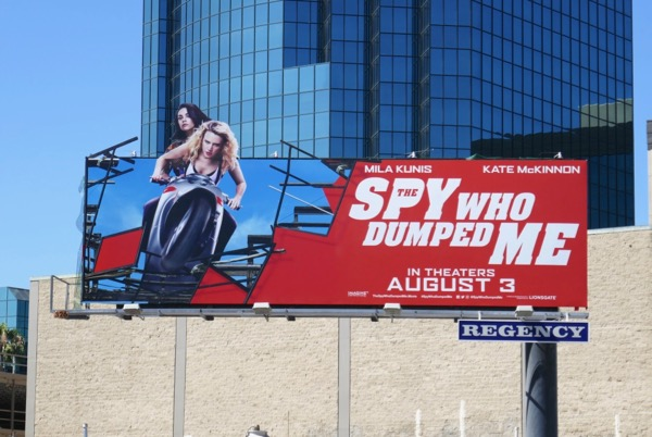 Spy Who Dumped Me extension cut-out billboard