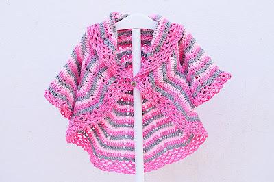 3 -Imagen abrigo redondo a crochet y ganchillo. Majovel Crochet