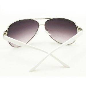 b89524a4032d HOTLOVE - F762 (Silver Frame White Sides) Premium Quality Aviator Sunglasses  UV400 Lens Technology Comfortable Metal Frame with Unique Elegant Design ...