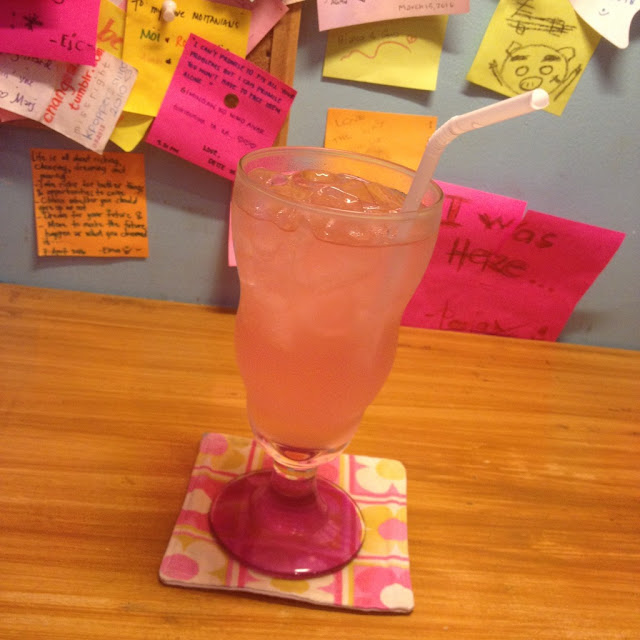 Pink lemonade at Sunday 2 PM Book & Cafe