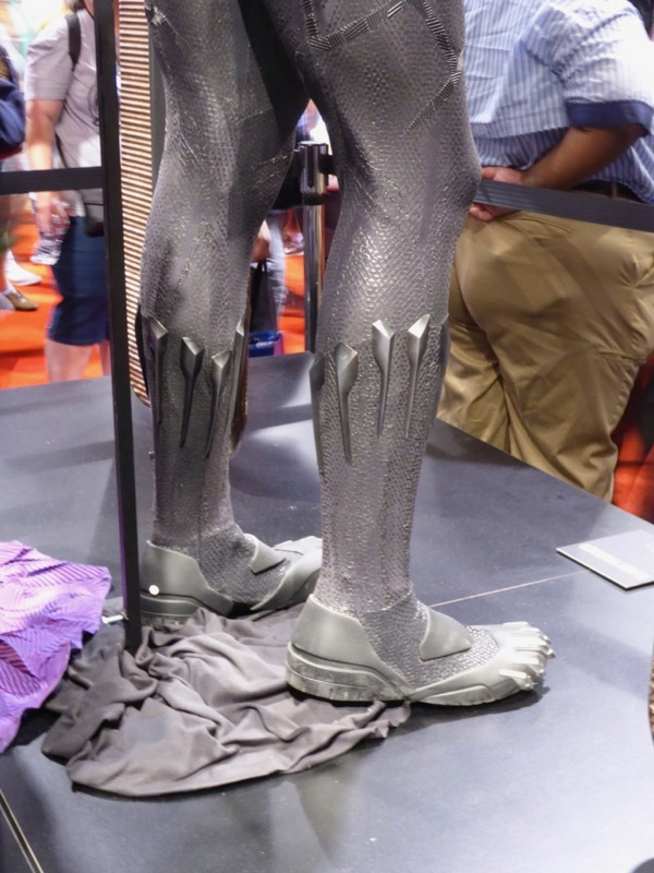 Black Panther costume boots detail