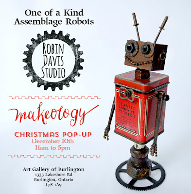 Found Object Robots by Robin Davis Studio