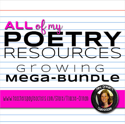 All of my poetry resources mega bundle  www.traceeorman.com