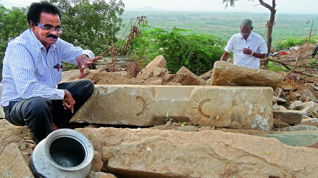 Buddhist pillars found under temple in Andhra Pradesh