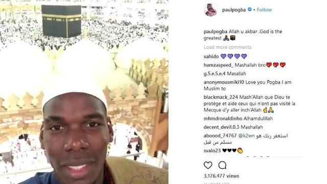 Laksanakan Ibadah Umroh, Bintang Sepakbola Paul Pogba Puji Mekkah Tempat yang Indah