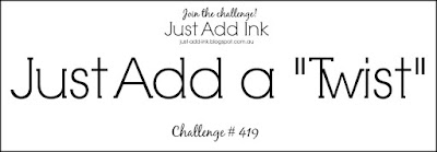 Jo's Stamping Spot - Just Add Ink Challenge #419