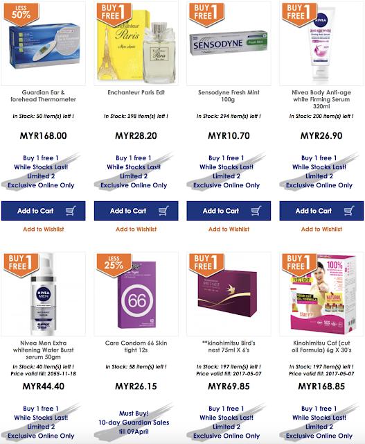 Guardian Malaysia Buy 1 Free 1 Sale
