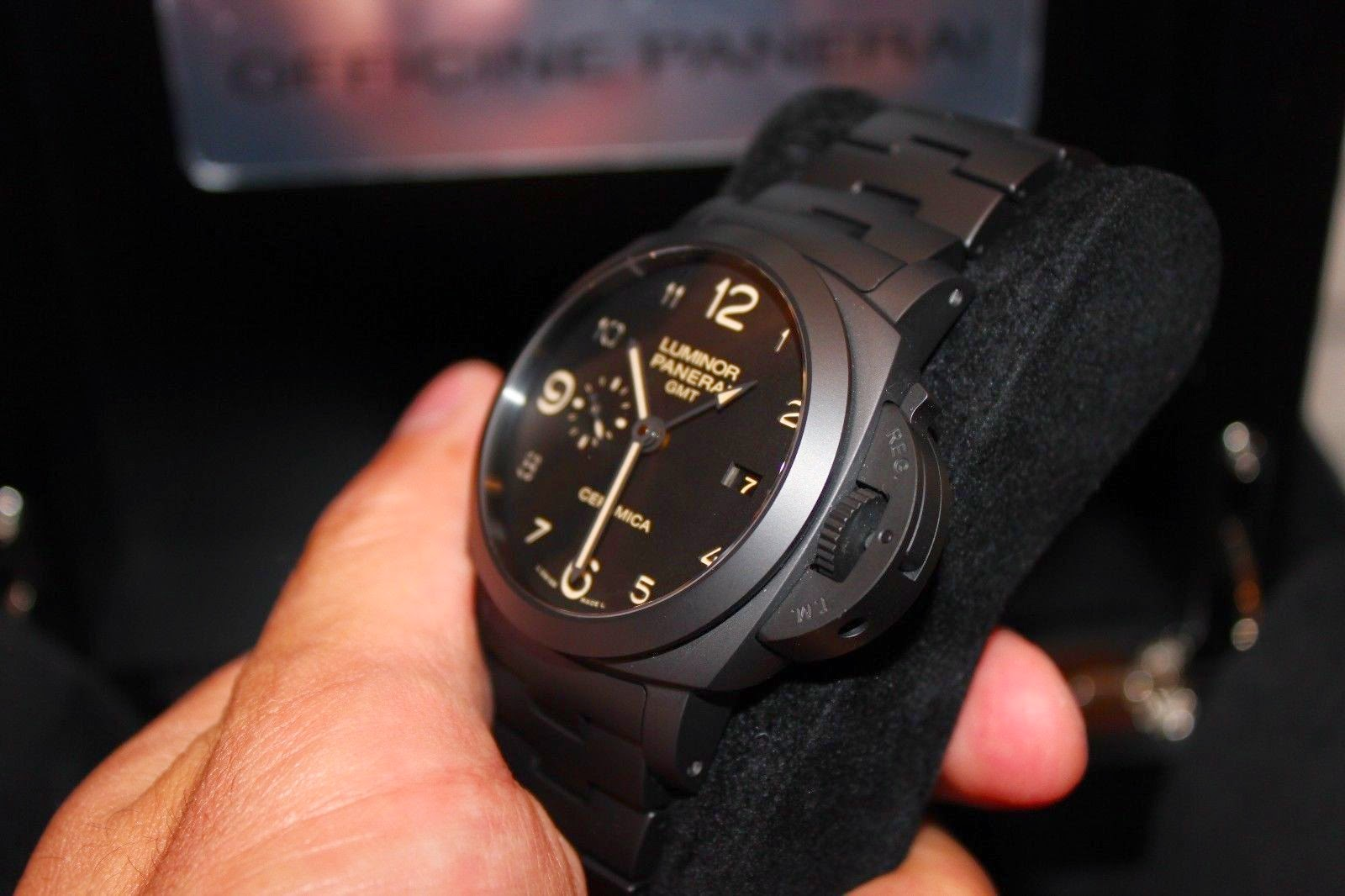 e1143b3c07e This watch is almost a watch made of the matt black ceramic. So you can  find that the bracelet also is created entirely of matt black ceramic