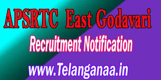 APSRTC East Godavari Driver Recruitment Notification 2016