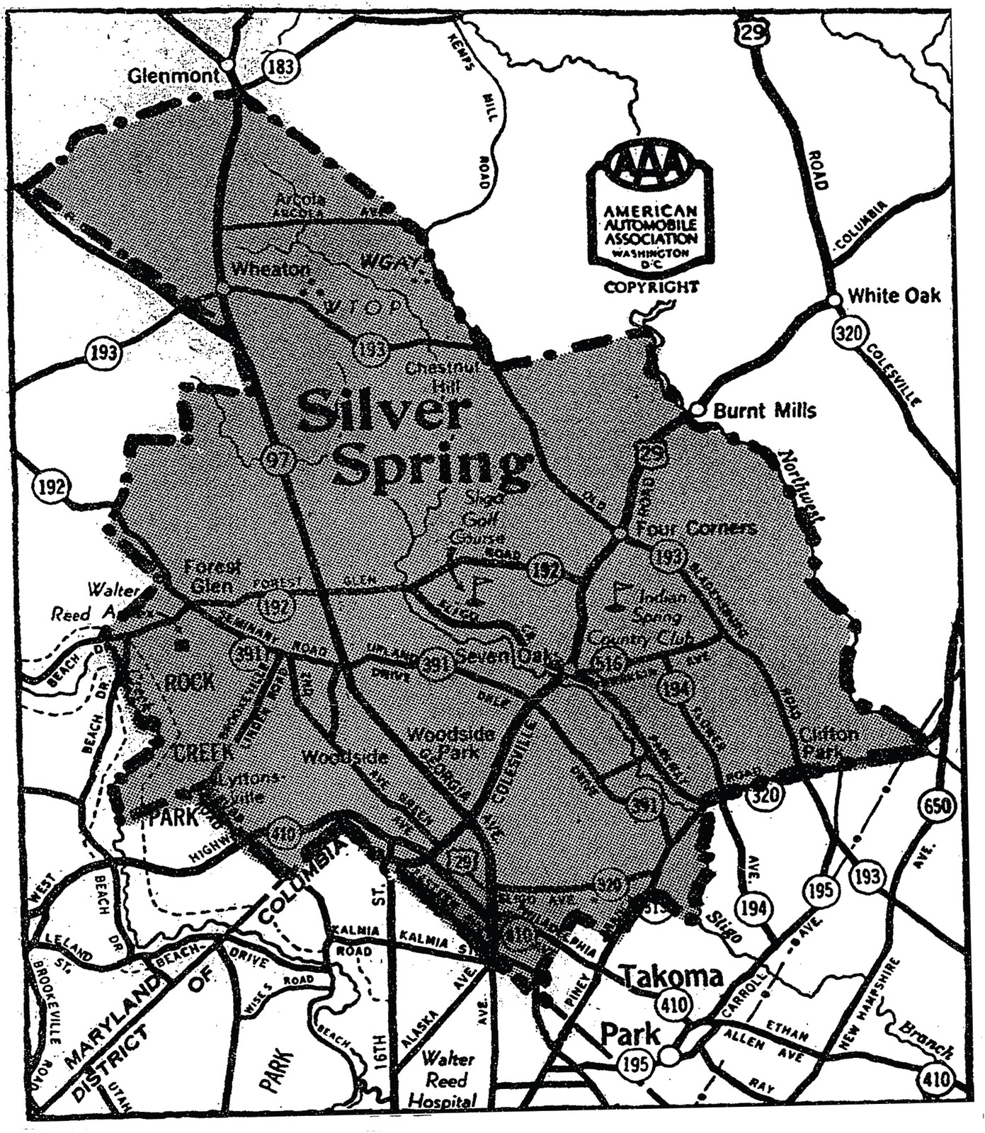 Silver Spring Md Zip Code Map | Zip Code MAP