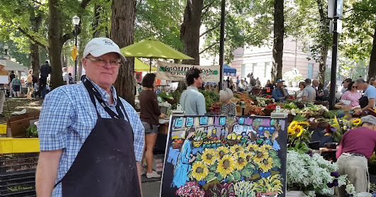 Painting Wednesday Market,, August 29, 2018