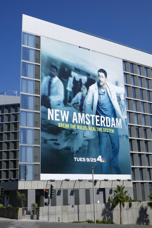 Giant New Amsterdam series launch billboard