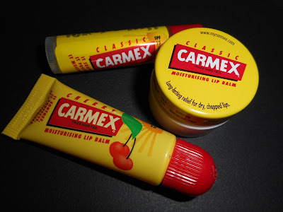 Carmex lip balms