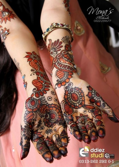 Fashion Amp Style Beautiful Indian Pakistani Bridal Wedding Valima New Mehndi Designs Photos Embroidery Dulhan Hand Feet Mehndi Images