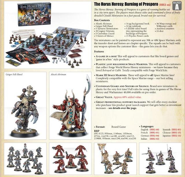 Segundo juego de Games Workshop sobre la Herejía de Horus