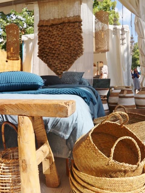 Salon vivre côté sud / Ethnic, bleu / Photos Atelier rue verte /