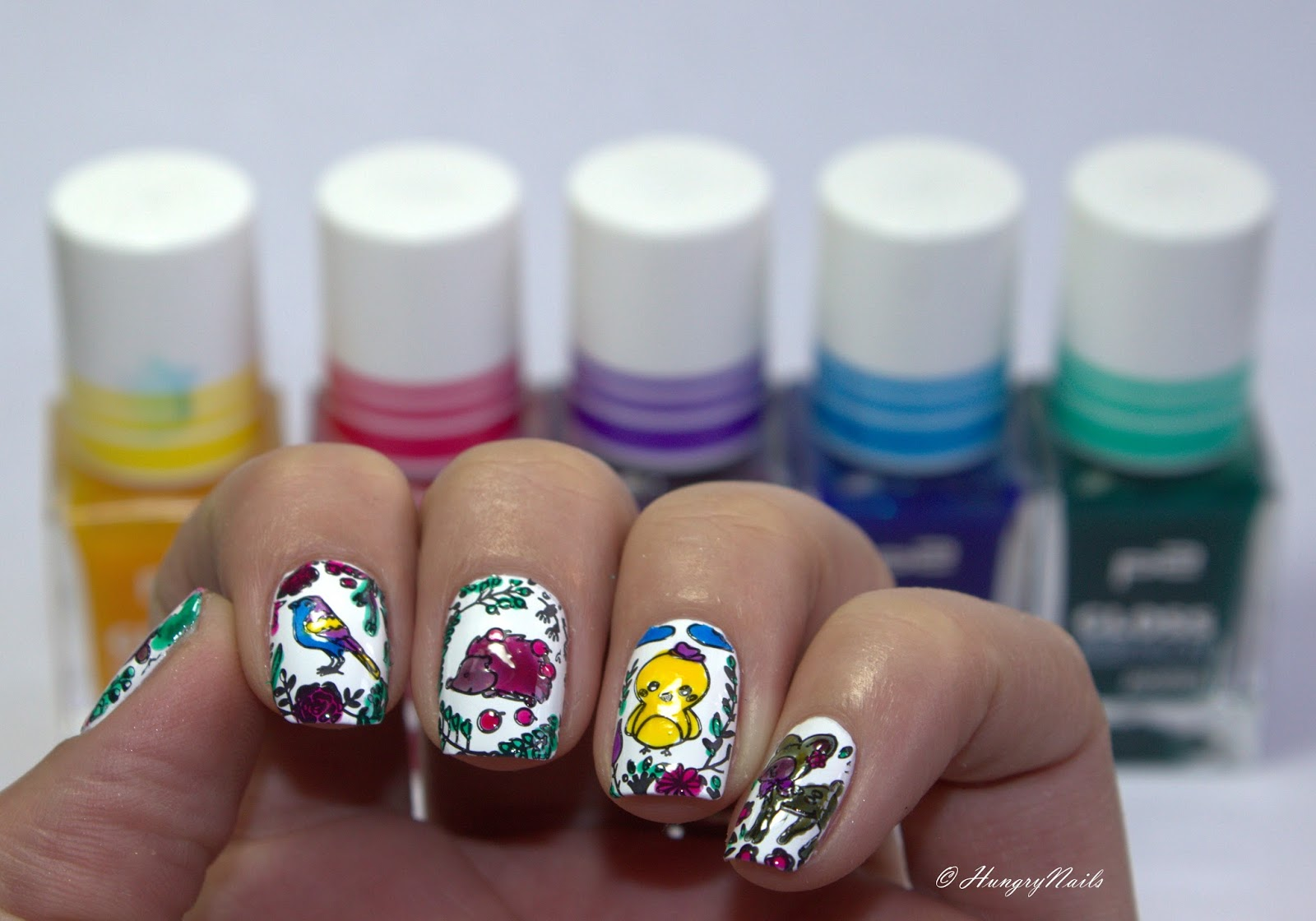 Leadlight Oster Design mit p2 Gloss goes Neon - HungryNails Blog ...