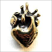 """Кулон """"Анатомическое сердце""""  купить украшения из бронзы симферополь"""
