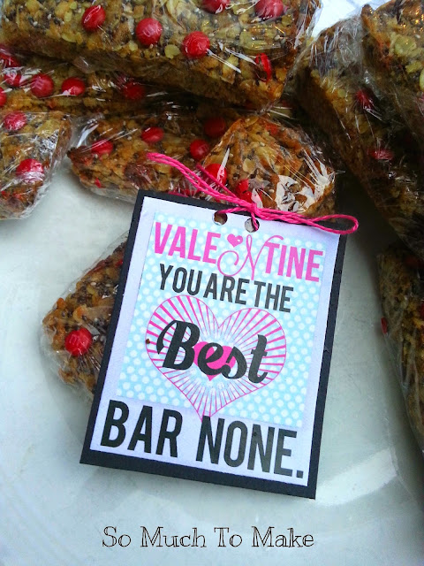 printable valentines granola bars