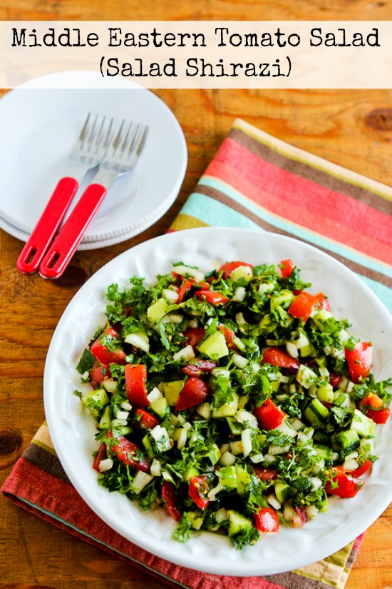 25 Low-Carb Cucumber Salads to Keep You Cool found on KalynsKitchen.com