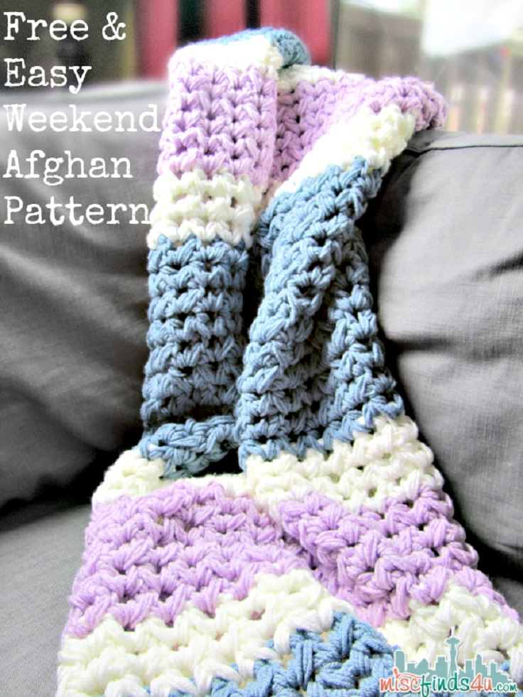 Easy Crochet Projects With Free Step By Step Tutorials - crochet, crochet tutorials, crochet projects, easy diy projects, crochet for beginners, afghan