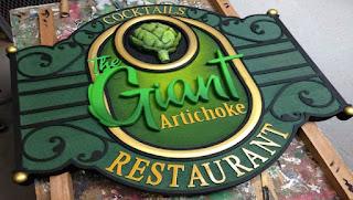 placa para restaurante