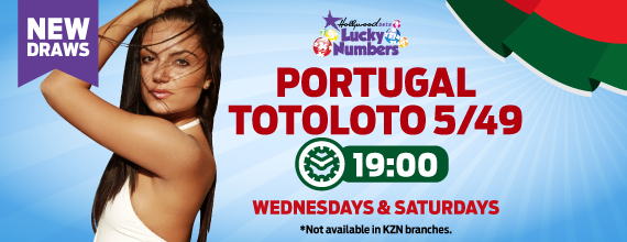 Portugal 5/49 Totoloto - Lucky Numbers - Hollywoodbets - New Draws - 19:00 - Wednesday and Saturday