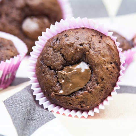 Buttermilk Chocolate Nutella Muffins