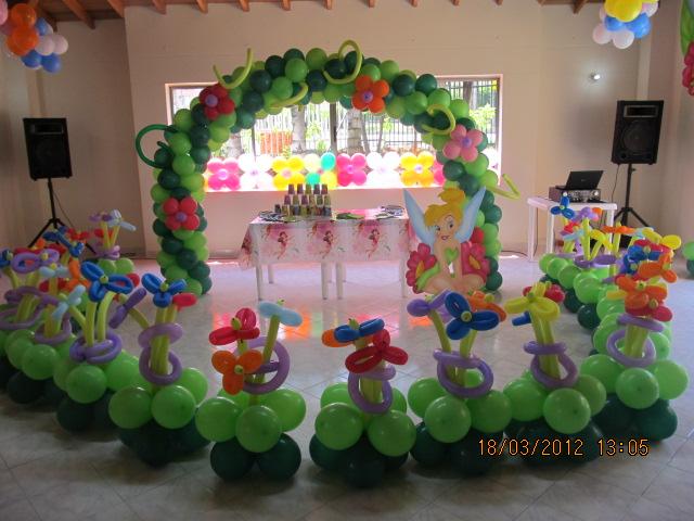 Decoracion campanita tinker bell fiestas infantiles - Decoracion goma eva infantil ...