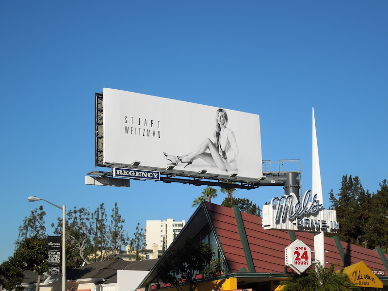Stuart Weitzman shoes Kate Moss billboard