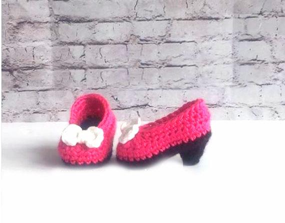 crochet pattern baby booties high heels pumps