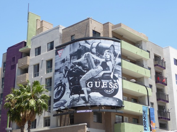 Hailey Baldwin Guess Jeans SS17 billboard