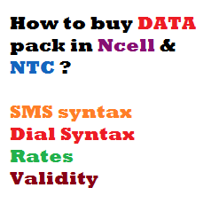 NTC & Ncell Data Packages  SMS Syntax, Price & Validity