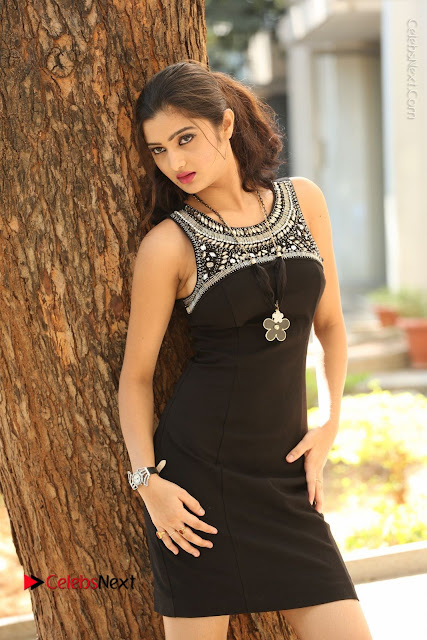 Actress Poojitha Pallavi Naidu Stills in Black Short Dress at Inkenti Nuvve Cheppu Movie Platinum Disc Function  0037.JPG