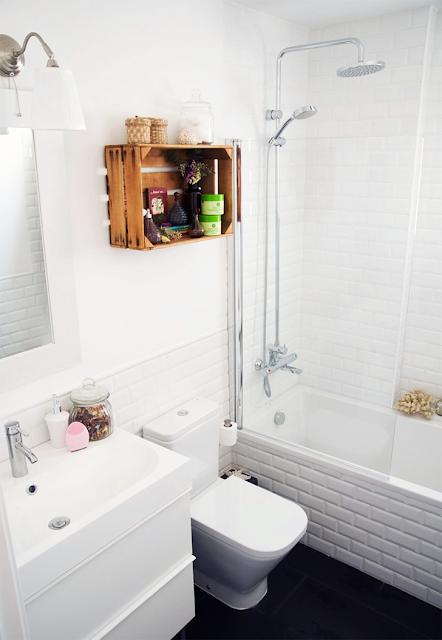 reutilizar caixotes de madeira banheiro nicho