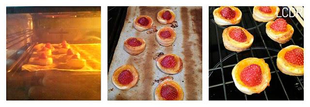 Receta de tartaletas de hojaldre con fresas y naranja 03