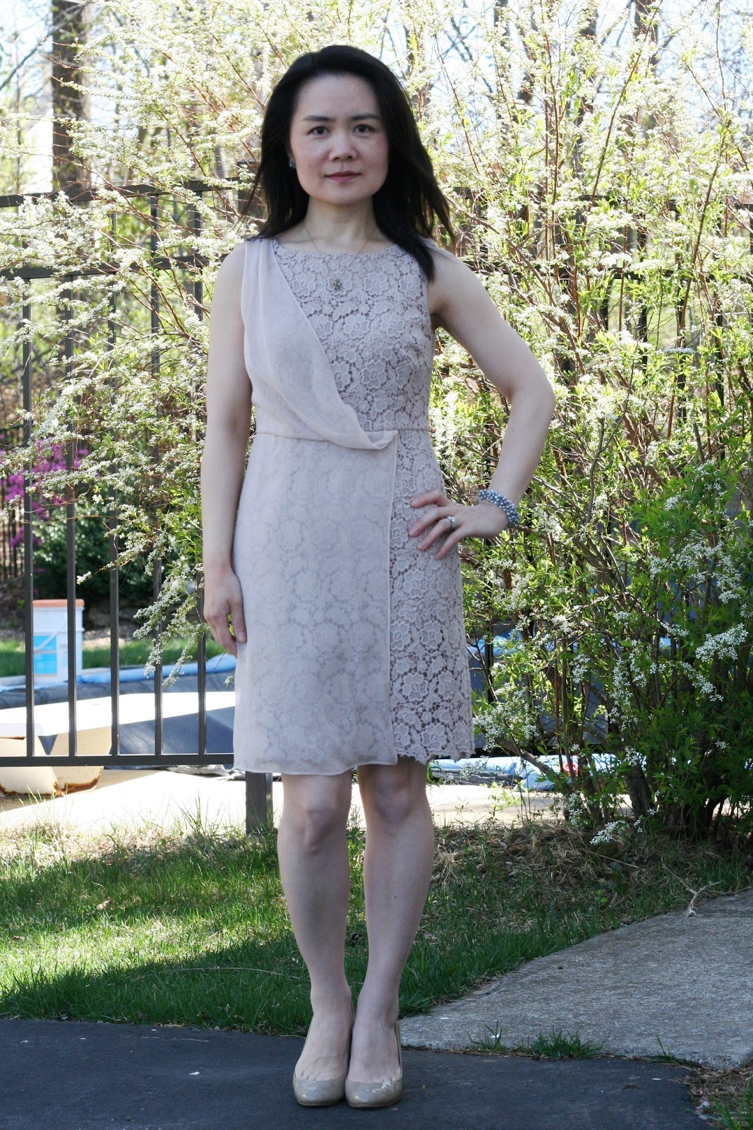 8f791df7637b Vicky s Daily Fashion Blog  Ann Taylor Modern Lace Sheath Dress (00P)