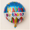 Balon Foil Bulat Motif HAPPY BIRTHDAY / Balon Foil Bulat HBD (01)