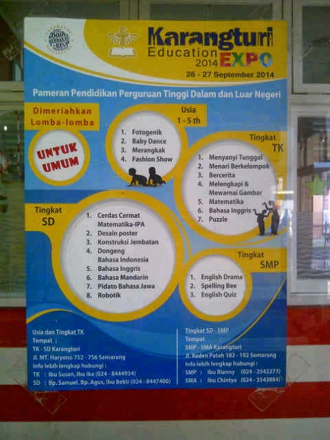 Brosur Event Karangturi Education Expo 2014
