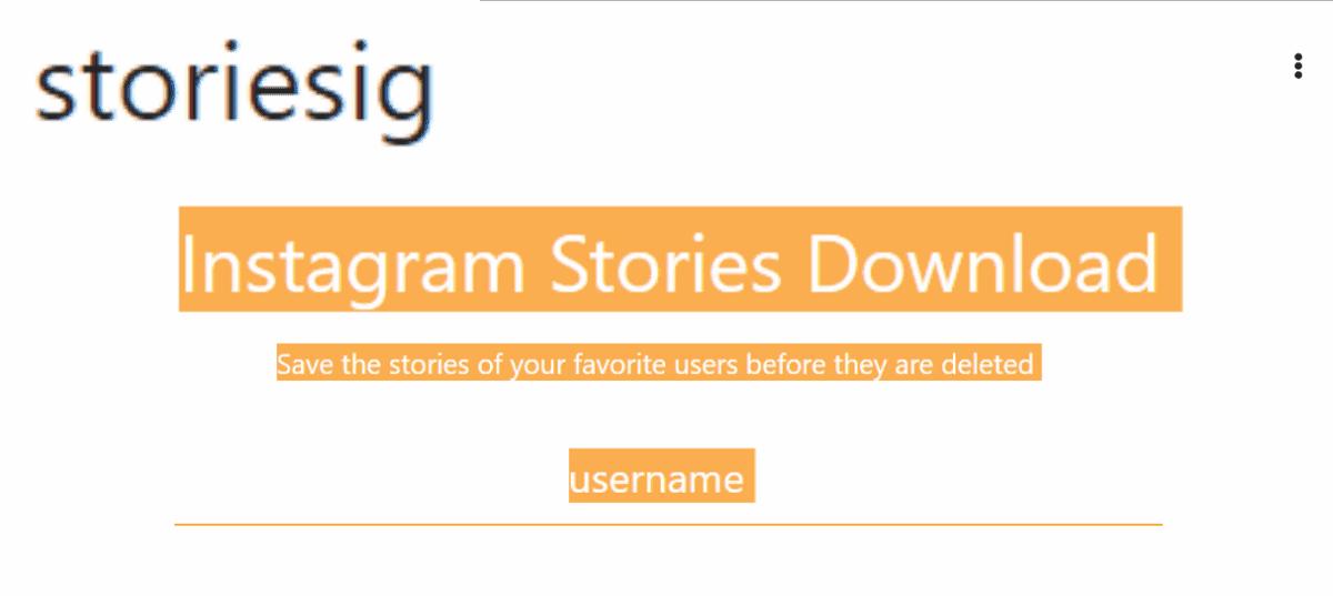 Storiesig 匿名瀏覽 IG 和下載照片